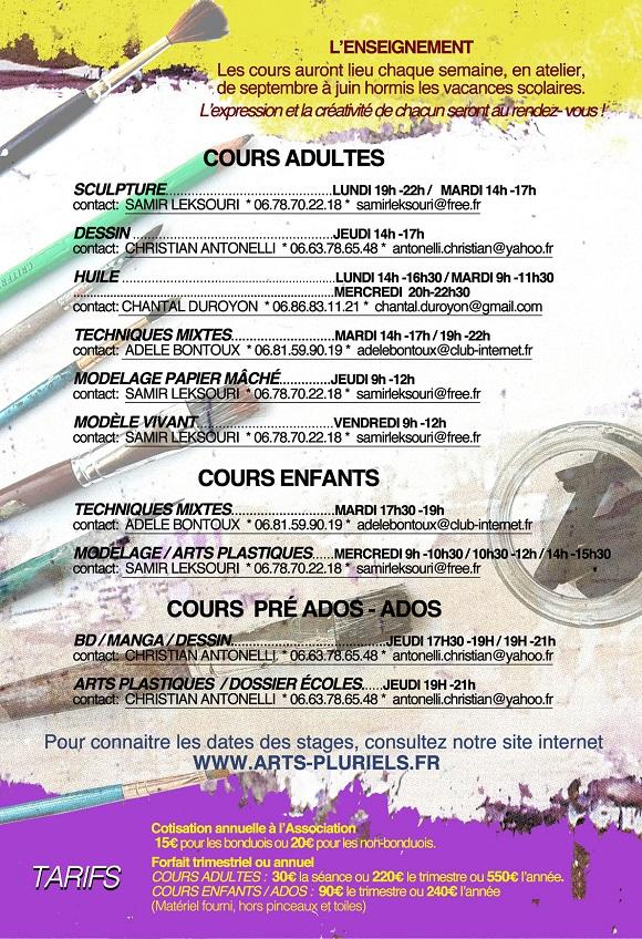 Cours arts pluriels 2014-2015 verso